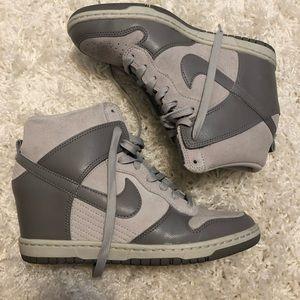 Grey wedge Nike's